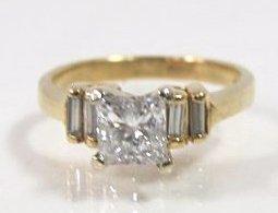 14k Yellow Gold Ladies Engagement Ring
