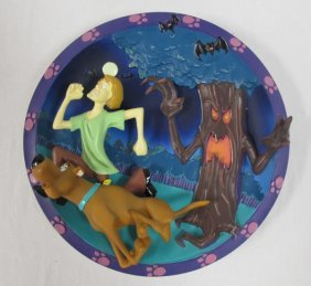 3-d Scooby-doo Plate, 1997, #891/2500, Scooby-doo And