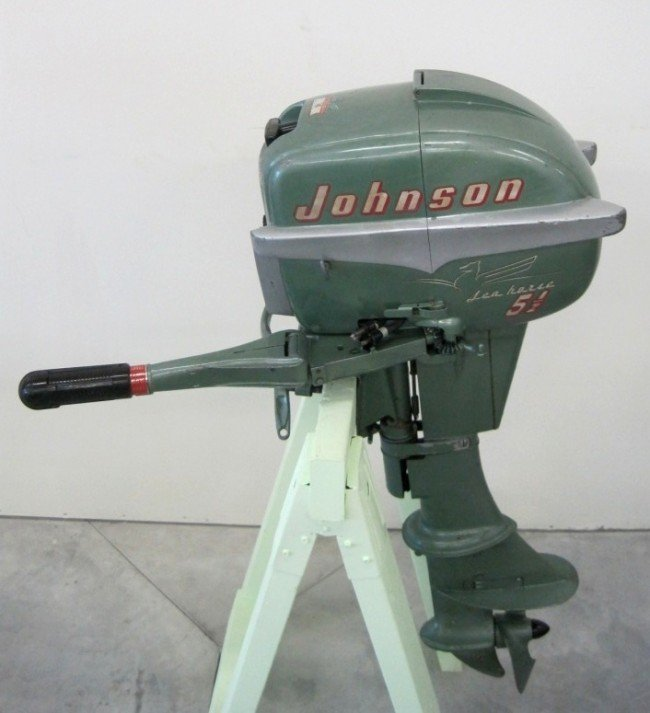 106 1955 johnson sea horse outboard boat motor lot 106 for 4 horse boat motor