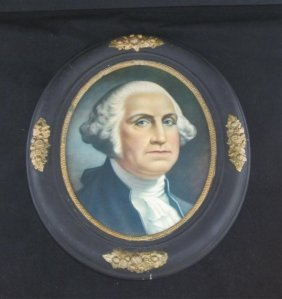 ANTIQUE FRAME W/ GEORGE WASHINGTON PRINT