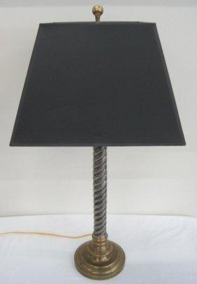 MODERN TWIST STYLE LAMP W/ BRASS BASE