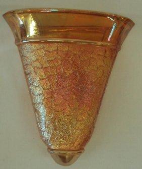 96 Austrian Carnival Glass Wall Pocket Vase Lot 96