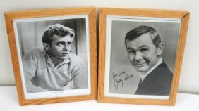 (2) AUTOGRAPHS - JOHNNY CARSON - JIMMY DEAN