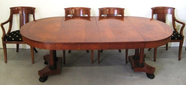 Baker furniture dining room table chairs lot 73 for Dining room furniture auctions