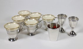 Sterling Lenox Demitasse Set & Barware