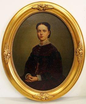 Oil On Panel Portrait Painting