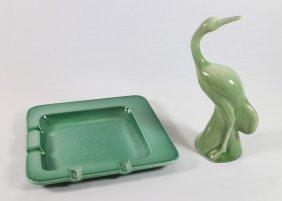 Rookwood Egret Figurine & Ashtray