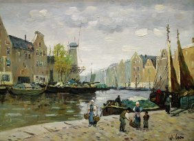 Dutch Village Painting