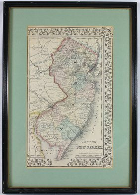 1868 Map Of New Jersey