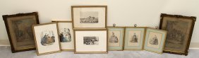 (9) Antique French Engravings