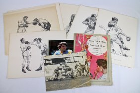 1930's Shell Oil Football Prints & Boxing Prints