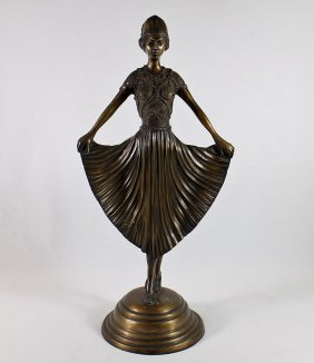 Bronze Chiparus Style Dancer