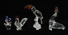 (4) Swarovski Crystal Figurines