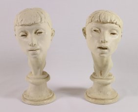 (2) Vintage Fred Press Sculptures