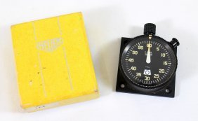 Vintage Heuer Airplane Timer W/ Box