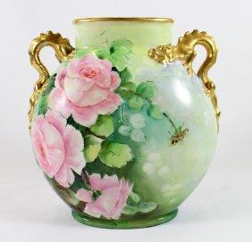 Jean Pouyat Limoges Vase