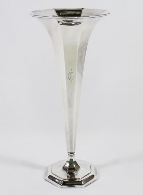 Tiffany & Co. Sterling Trumpet Vase