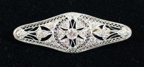 Platinum Art Deco .91 Tcw Diamond Brooch