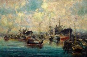 Charles Andrews Harbor Painting