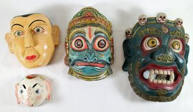 (4) Painted Masks