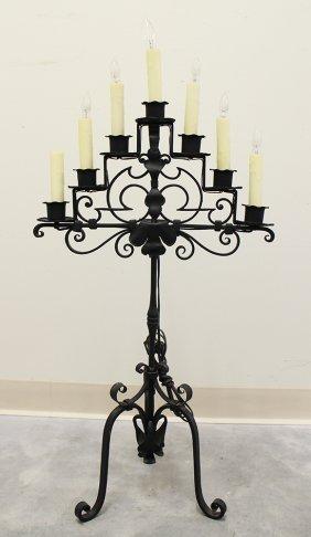 Iron Candelabra Table Lamp