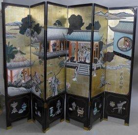 6 Panel Chinese Floor Screen