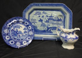 Collection Of Blue & White Porcelain Serving Ware