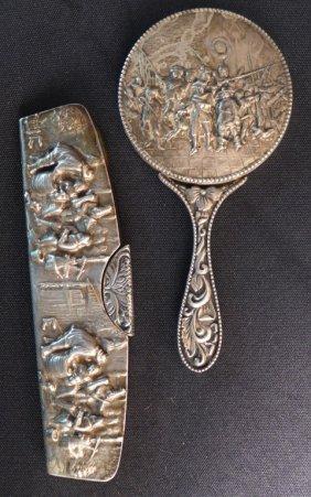 Antique Comb And Mirror Set