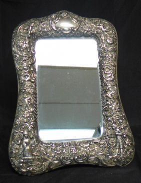 Antique Silver Dressing Table Mirror