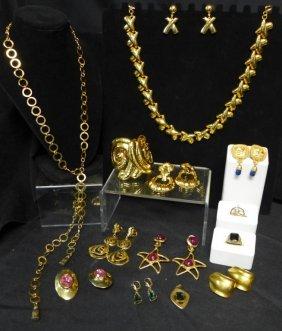 Gold Tone Fashion Jewelry Assortment