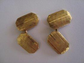 Tiffany & Co 18k Gold Art Deco Cufflinks