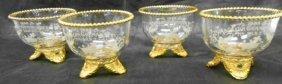 Set Of 4 1898 Ascalon Commandery Finger Bowls