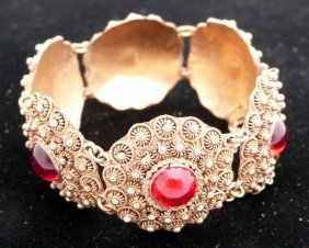 Indian Bracelet With Read Stones