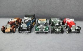 Five (5) 1/24 Scale Franklin Mint Cars