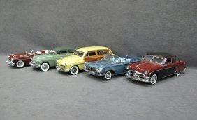 Five (5) 1/24 Scale Danbury Mint Cars