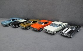 Six (6) 1/24 Scale Franklin Mint Cars