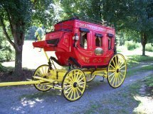 Reproduction Stage Coach; Maker: Tom Winkler