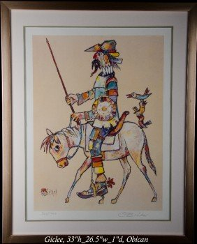 Jovan Obican (1918-1986), Signed/numbered ??.  Fram
