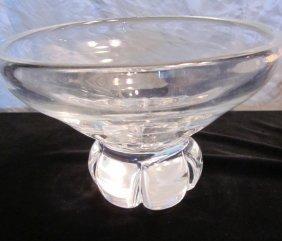Steuben Glass Heavy Bowl