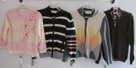 Lot Of  4 Sweaters By Debra C. Beverly Hills