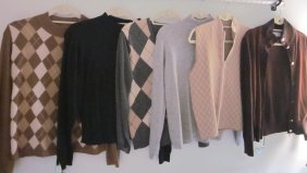 Lot Of  6 Designer Sweaters -Mostly Cashmere