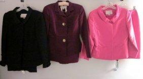 Lot Of 3 Gorgeous Oscar De La Renta Skirt Suits