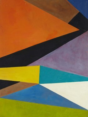 Saliba DOUAIHY (1915-1994) Multicoloured Geometry