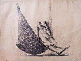 Jos� Ch�vez MORADO (1909-2002) Siesta En Hamaca