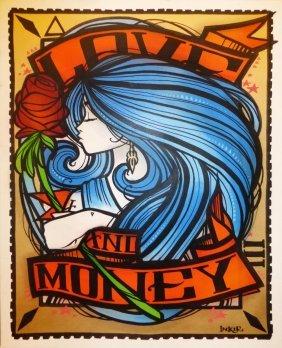 Inkie (b. 1970); Love & Money, 2015