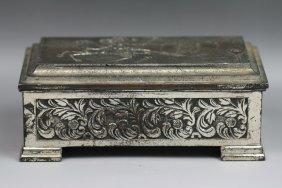 Fine Japanese Antique Silvered Trinket Box