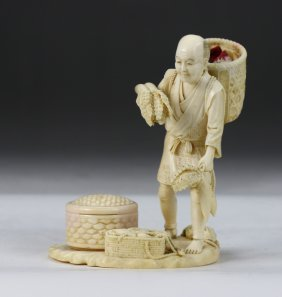 A Japanese Antique Ivory Carved Figure