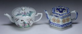 Two (2) Chinese Antique Porcelain Teapots