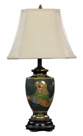 A Japanese Porcelain Lamp