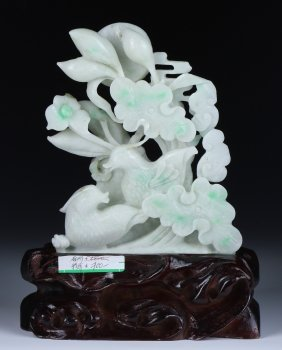 A Chinese Jadeite Carved Group